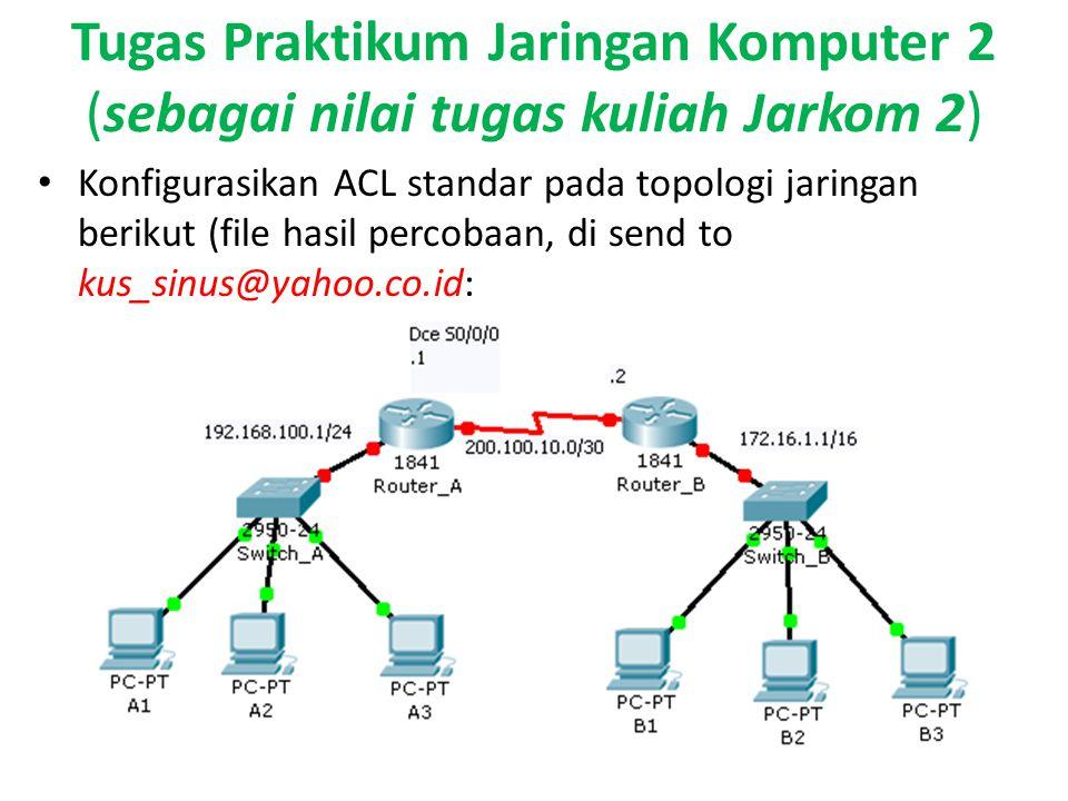 Tugas Praktikum Jaringan Komputer 2 (sebagai nilai tugas kuliah Jarkom 2)