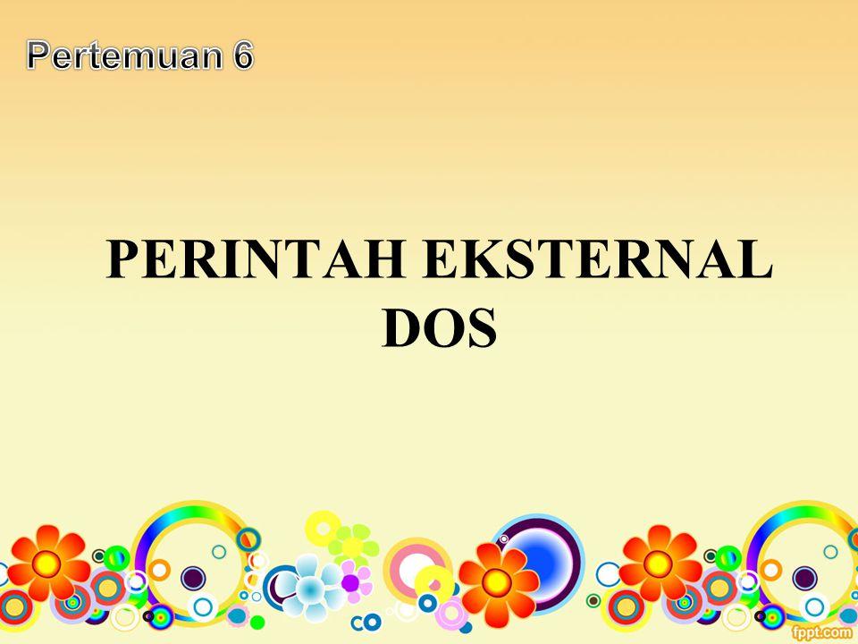PERINTAH EKSTERNAL DOS