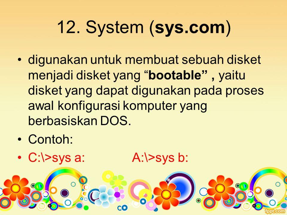 12. System (sys.com)