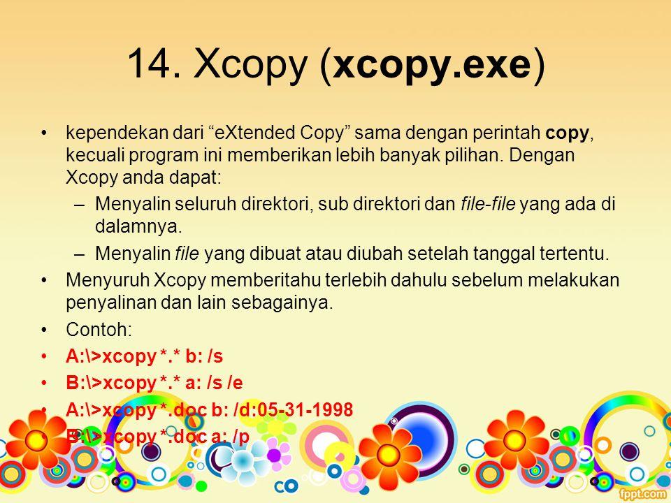 14. Xcopy (xcopy.exe)