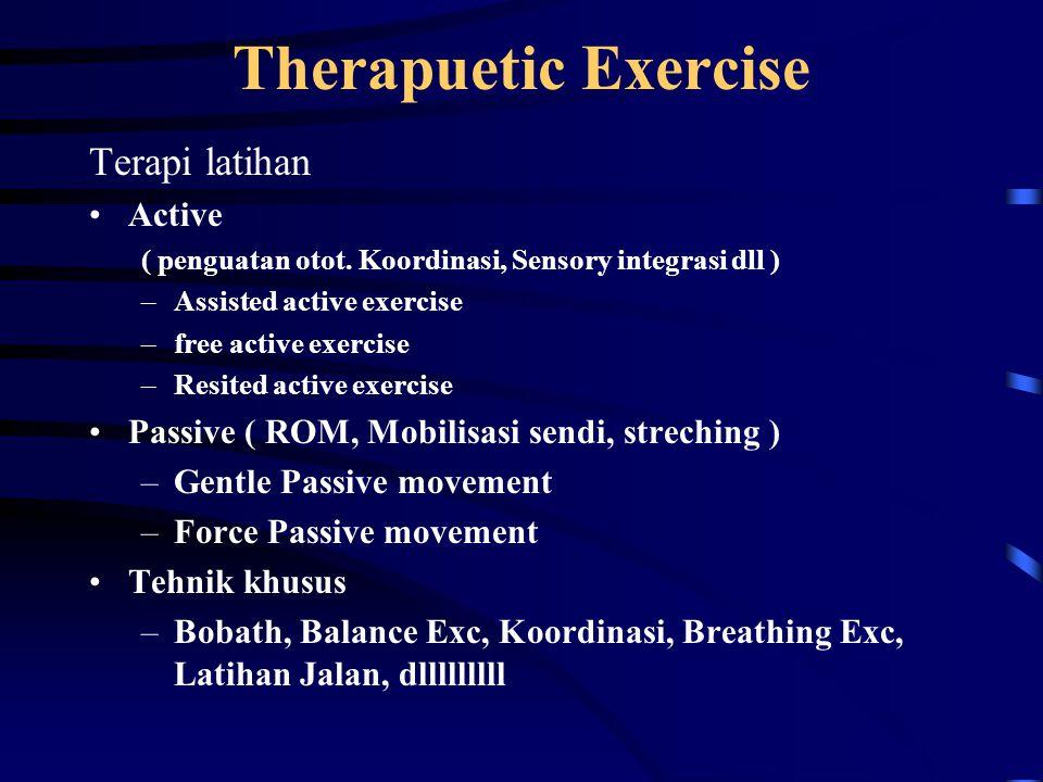 Therapuetic Exercise Terapi latihan Active