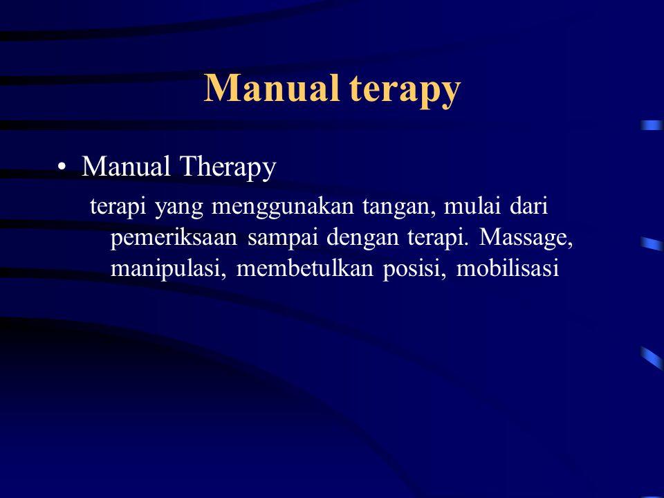 Manual terapy Manual Therapy