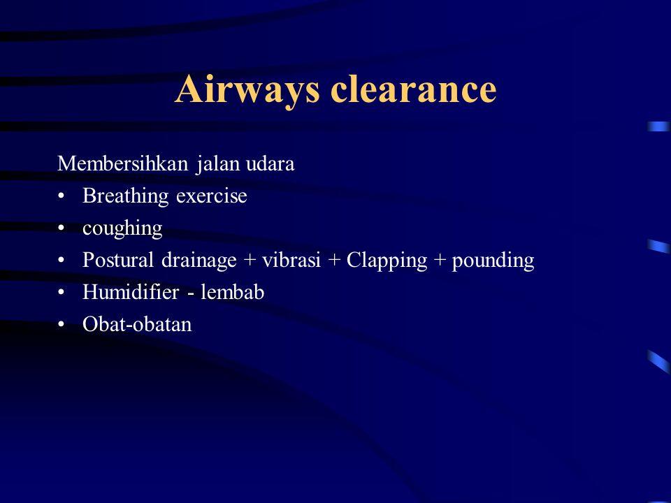 Airways clearance Membersihkan jalan udara Breathing exercise coughing