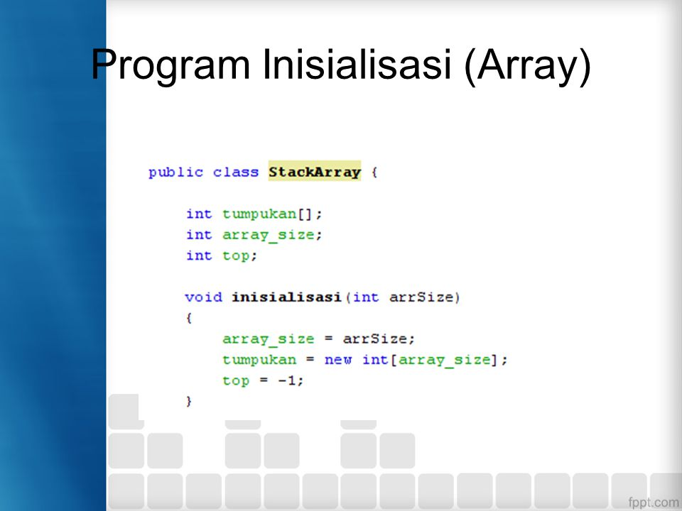 Program Inisialisasi (Array)