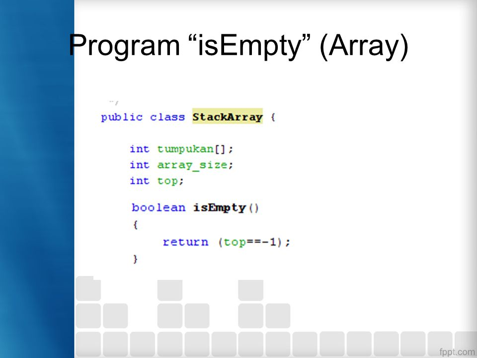 Program isEmpty (Array)