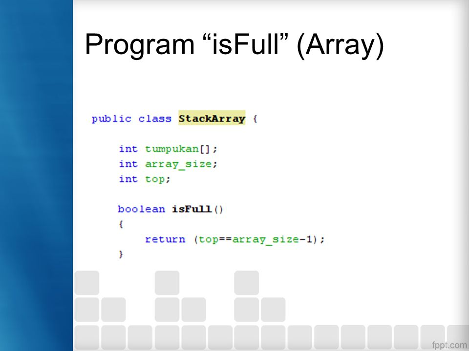Program isFull (Array)
