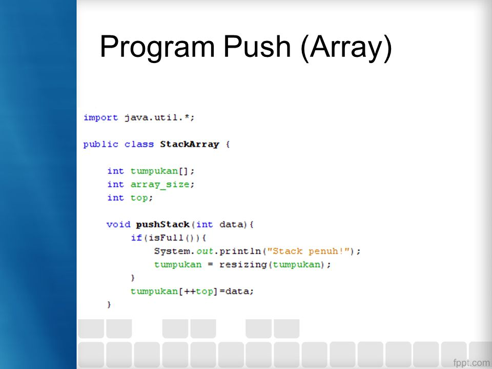 Program Push (Array)