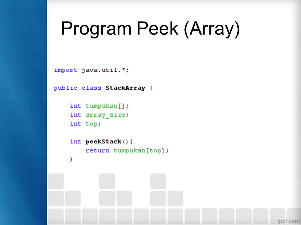 Program Peek (Array)
