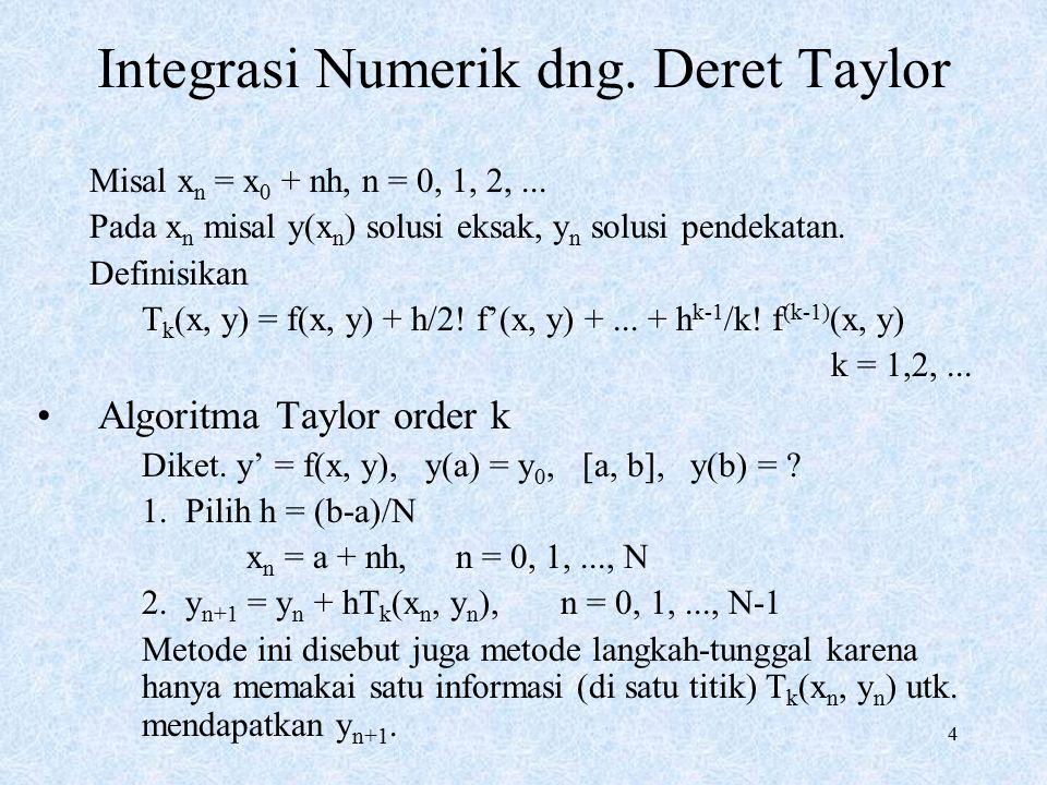 Integrasi Numerik dng. Deret Taylor
