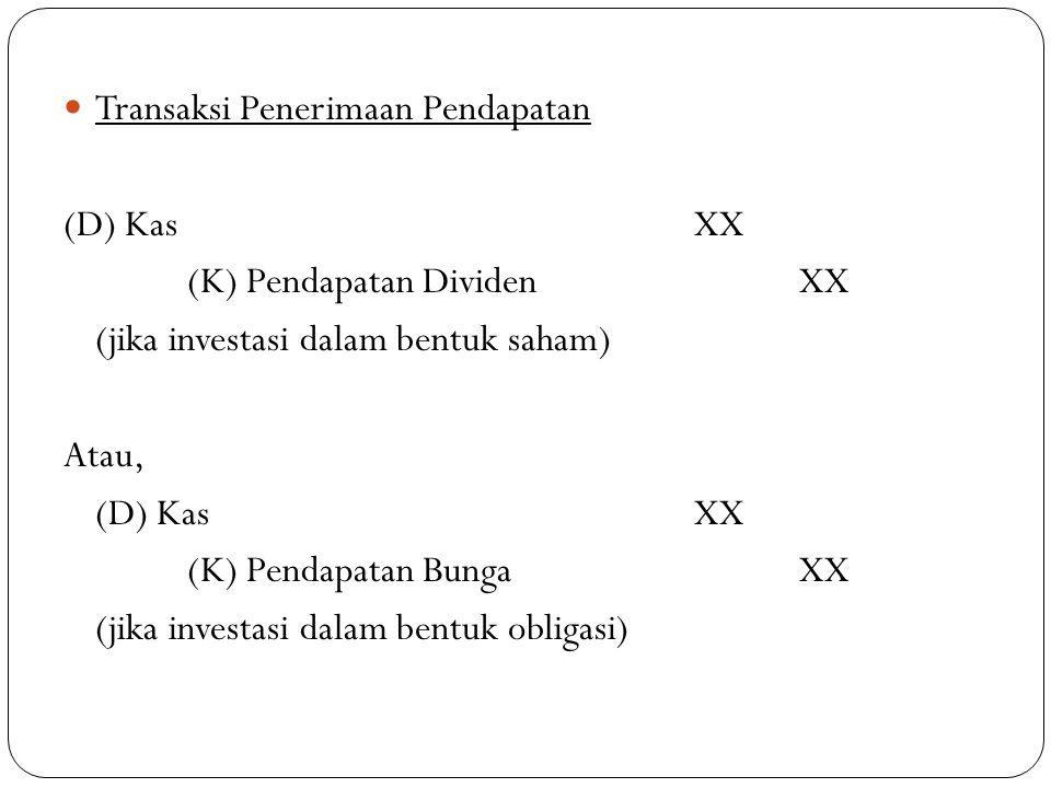 Transaksi Penerimaan Pendapatan