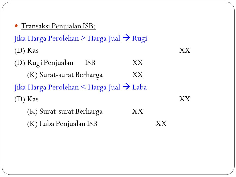 Transaksi Penjualan ISB: