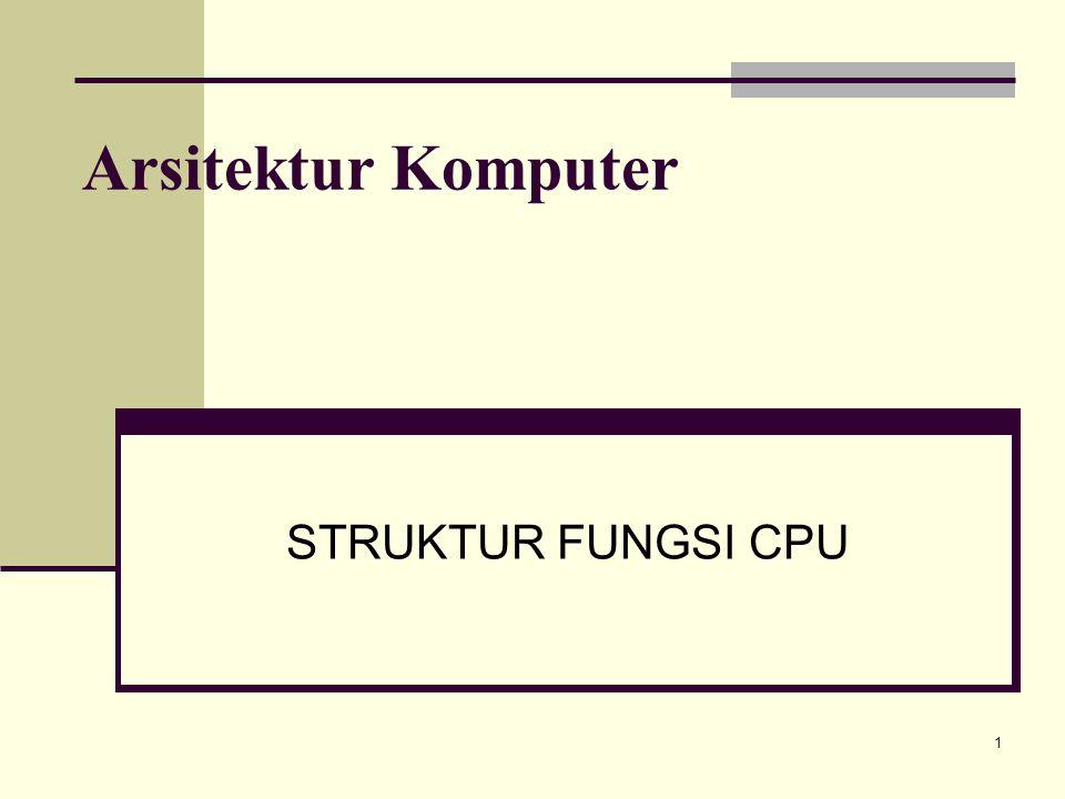 Arsitektur Komputer STRUKTUR FUNGSI CPU