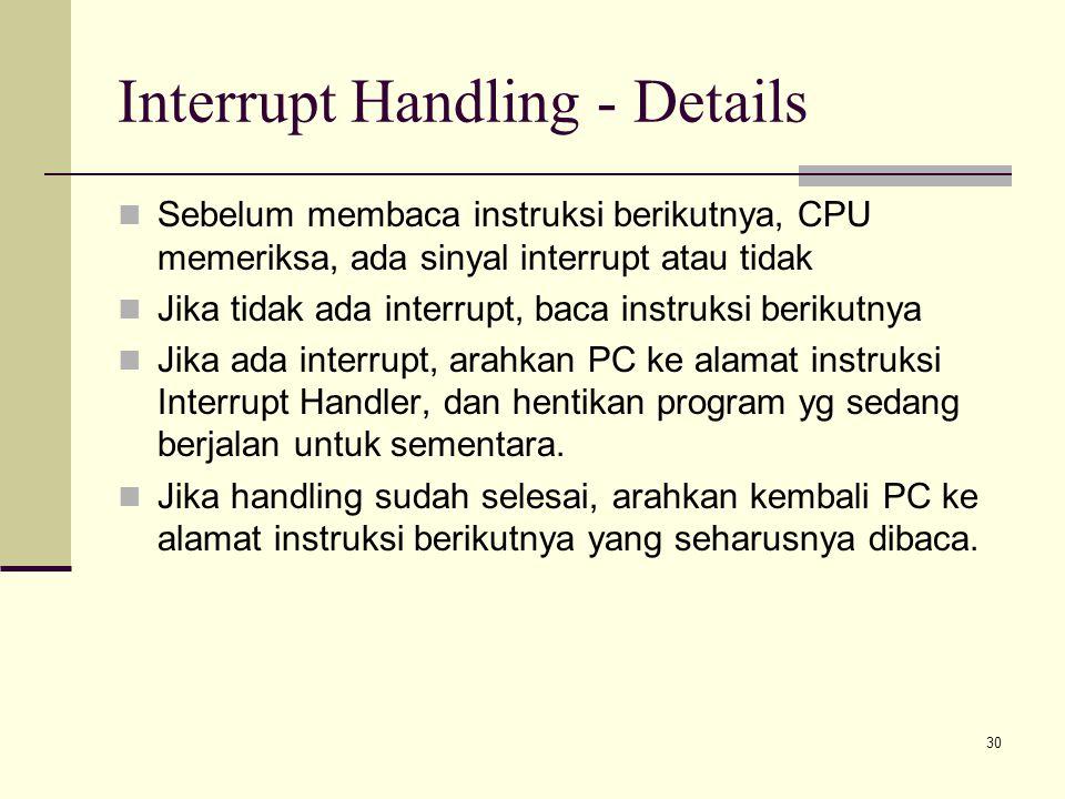 Interrupt Handling - Details