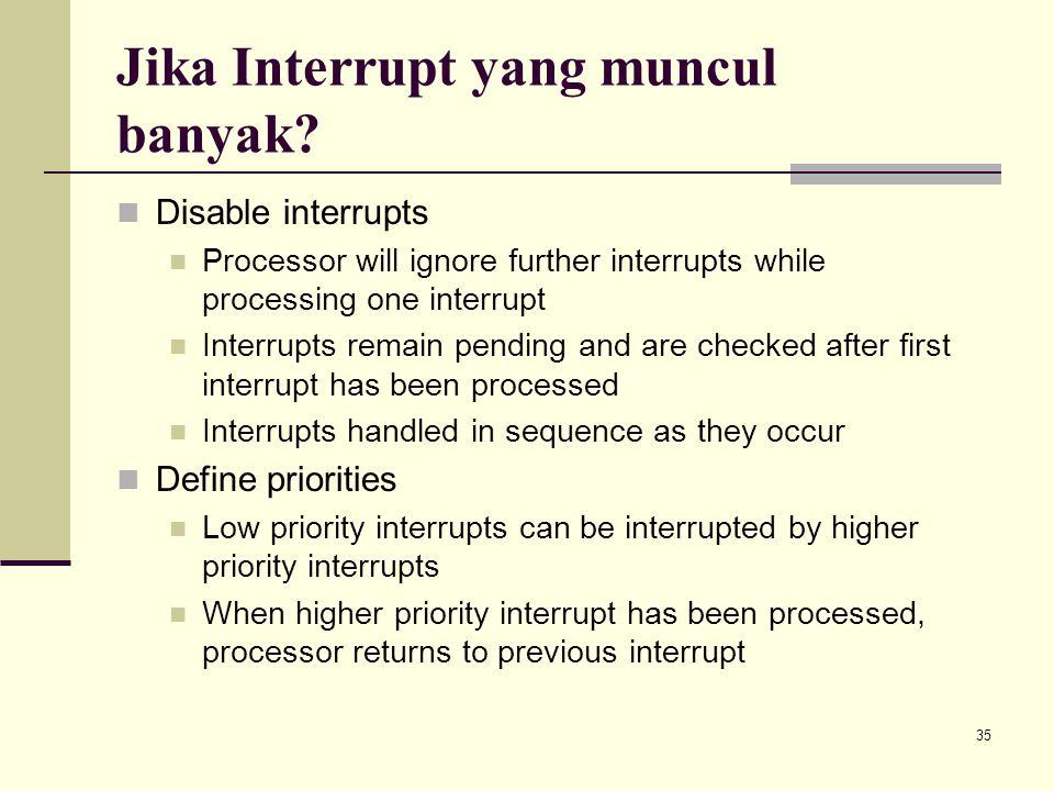 Jika Interrupt yang muncul banyak