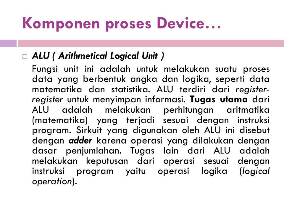 Komponen proses Device…