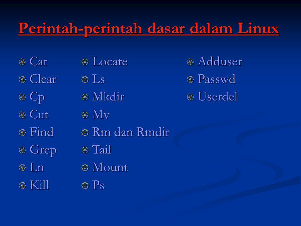 Perintah-perintah dasar dalam Linux