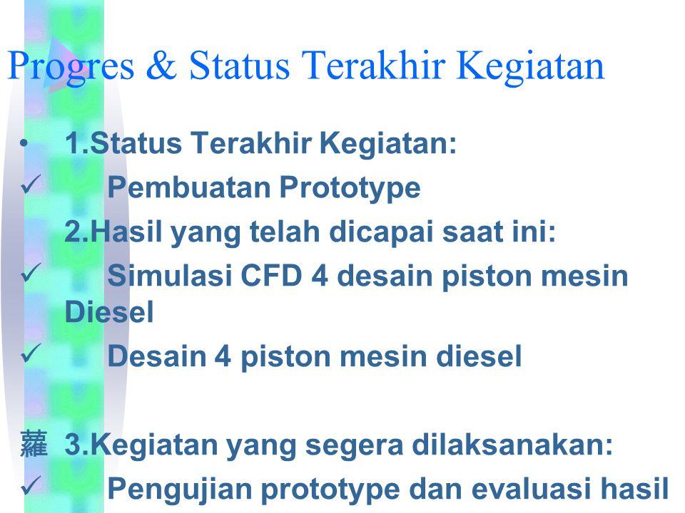 Progres & Status Terakhir Kegiatan