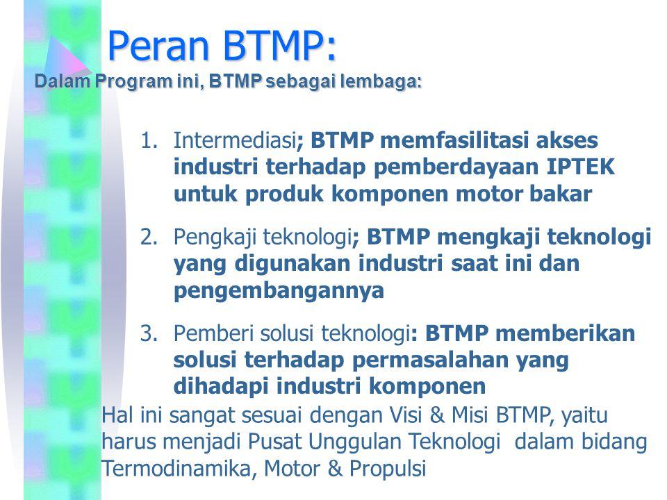 Peran BTMP: Dalam Program ini, BTMP sebagai lembaga: