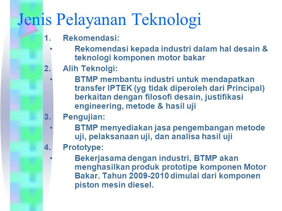Jenis Pelayanan Teknologi