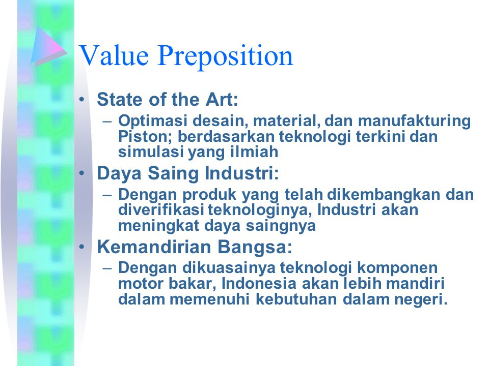 Value Preposition State of the Art: Daya Saing Industri: