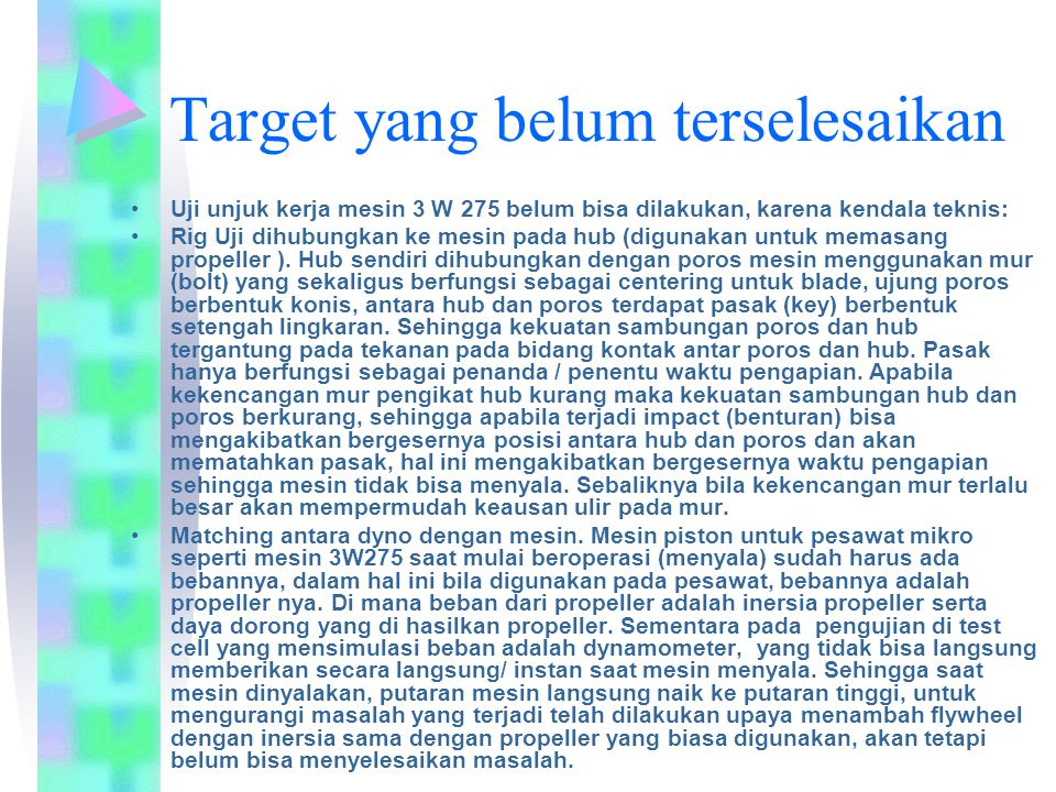 Target yang belum terselesaikan