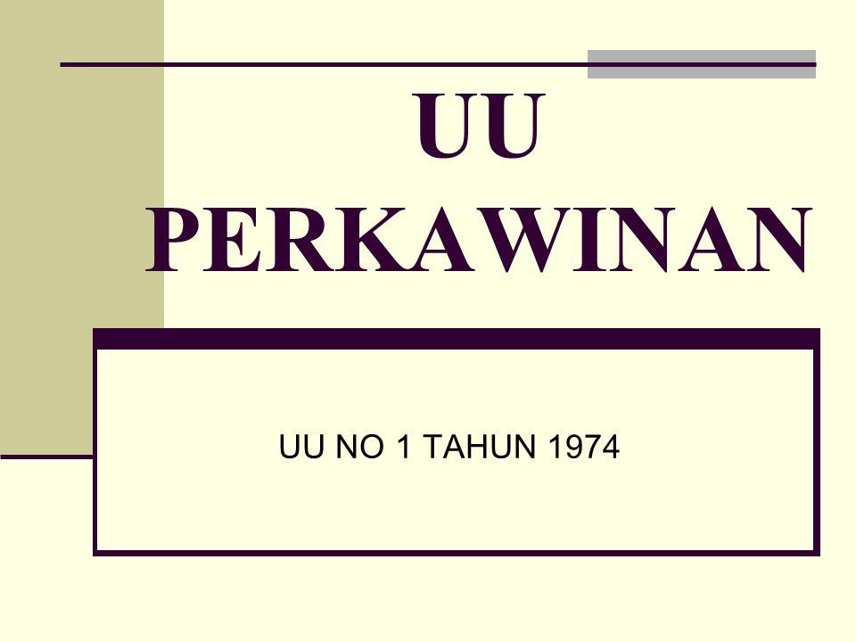UU PERKAWINAN UU NO 1 TAHUN 1974