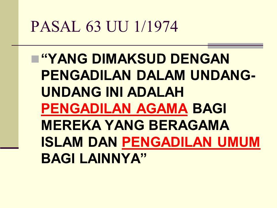 PASAL 63 UU 1/1974