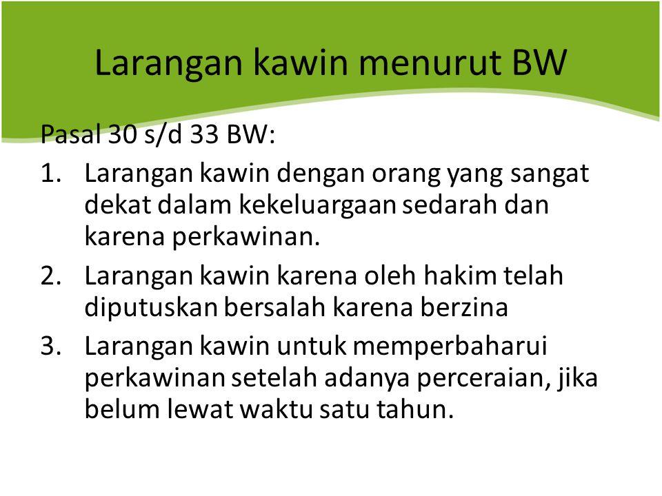 Larangan kawin menurut BW
