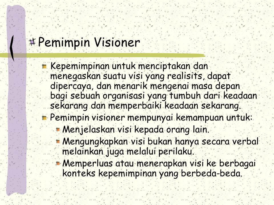 Pemimpin Visioner