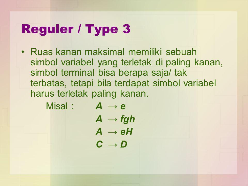 Reguler / Type 3