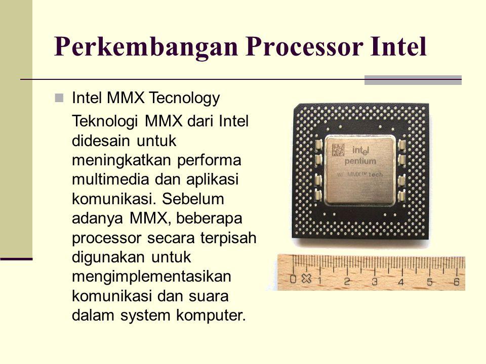 Perkembangan Processor Intel