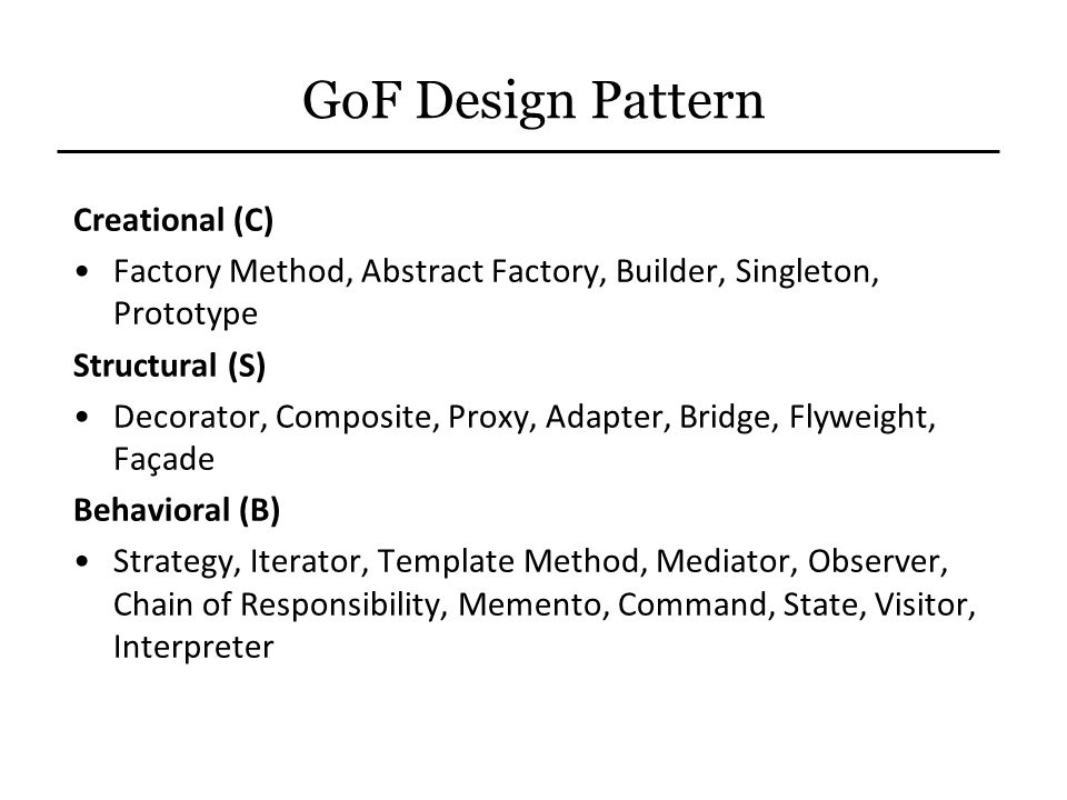 GoF Design Pattern Creational (C)