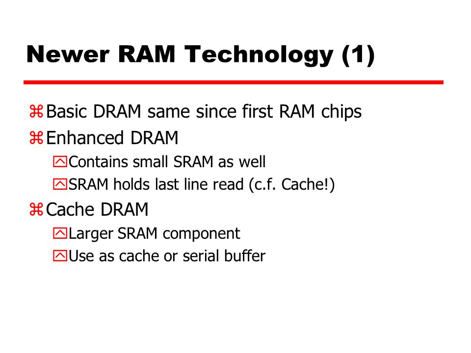 Newer RAM Technology (1)