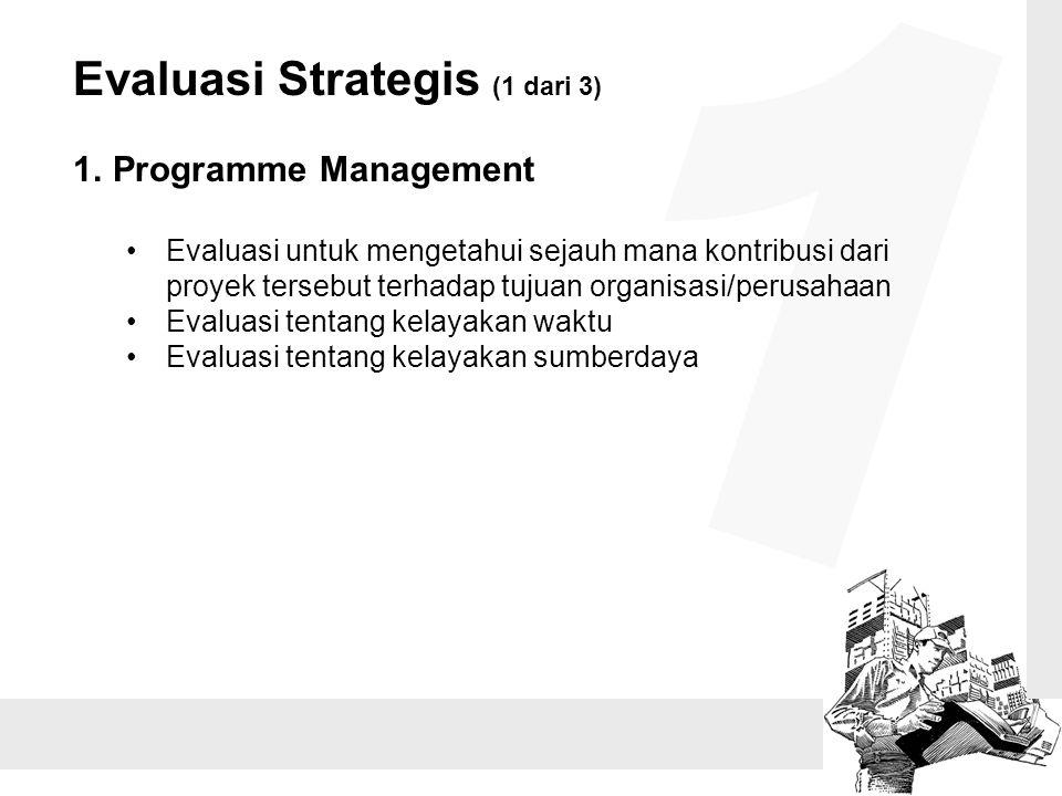 1 Evaluasi Strategis (1 dari 3) Programme Management
