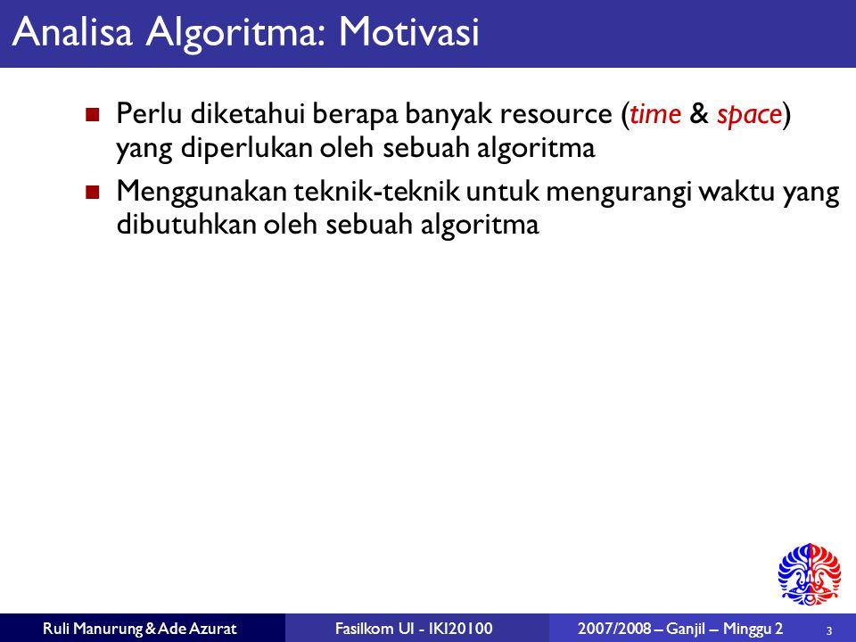 Analisa Algoritma: Motivasi