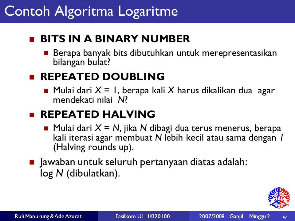 Contoh Algoritma Logaritme