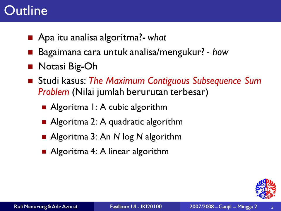Outline Apa itu analisa algoritma - what