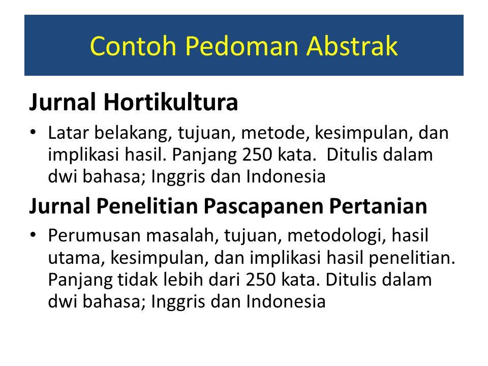 Contoh Pedoman Abstrak
