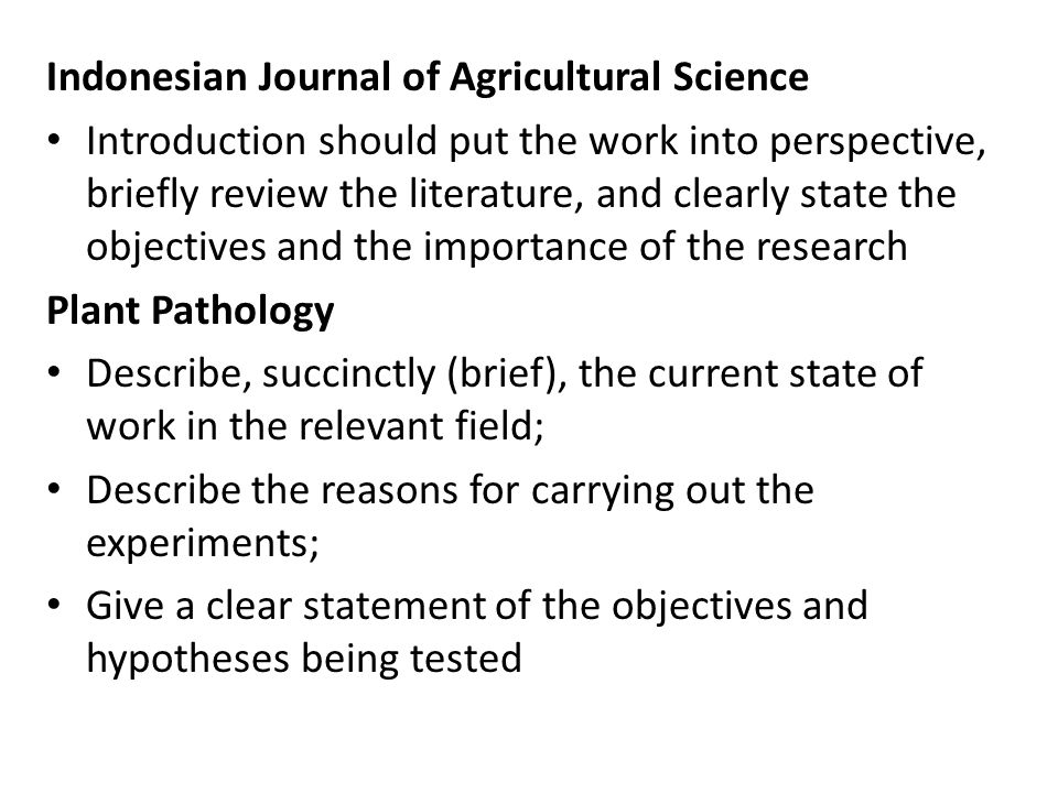 Indonesian Journal of Agricultural Science