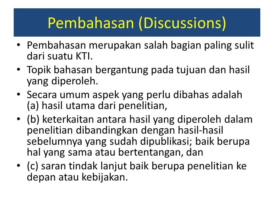 Pembahasan (Discussions)