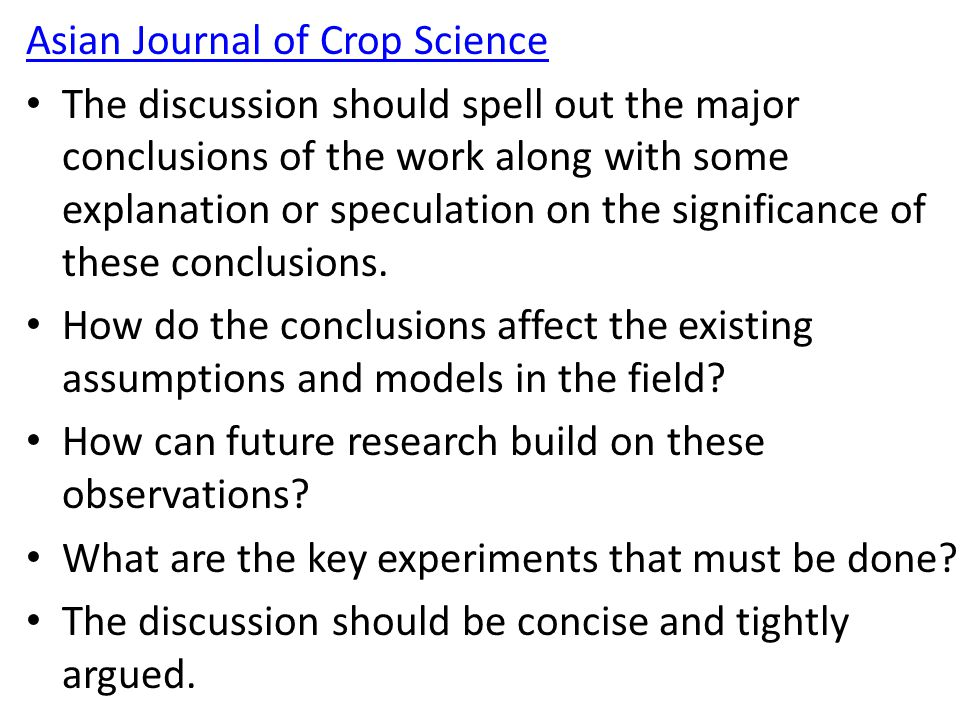 Asian Journal of Crop Science