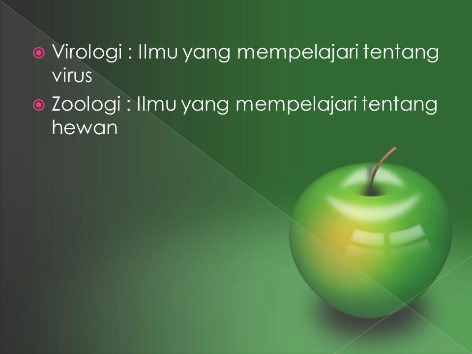 Virologi : Ilmu yang mempelajari tentang virus
