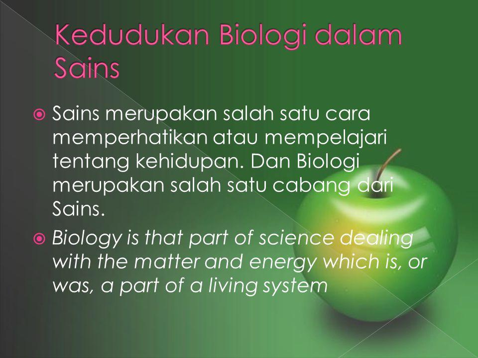 Kedudukan Biologi dalam Sains