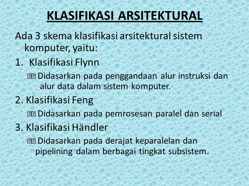 KLASIFIKASI ARSITEKTURAL