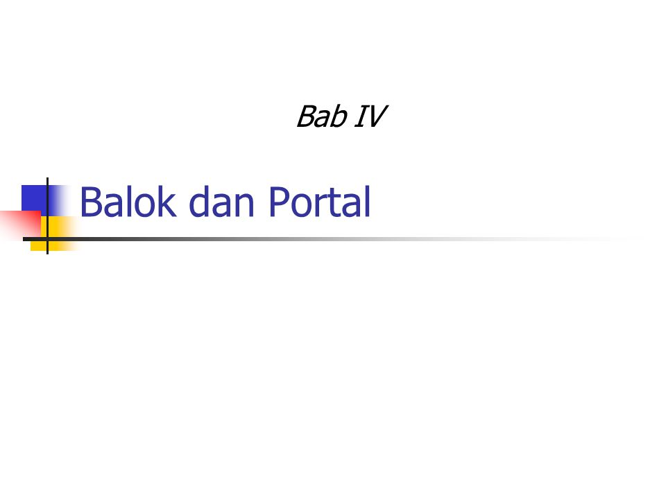 Bab IV Balok dan Portal