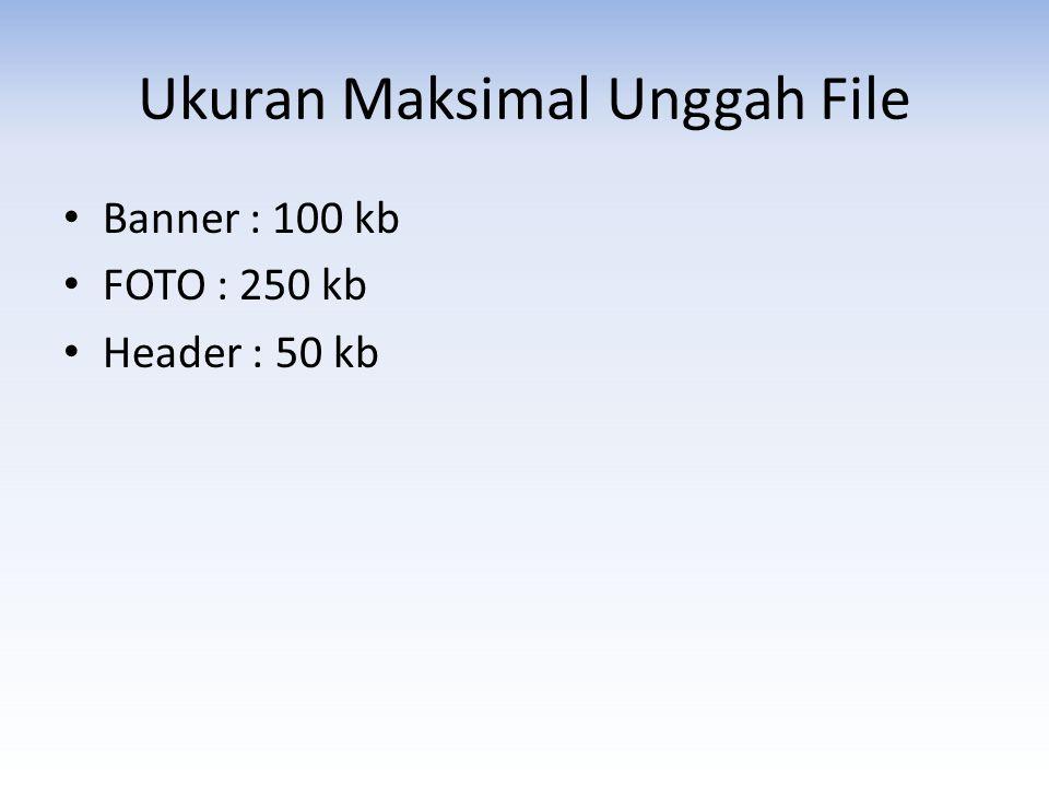 Ukuran Maksimal Unggah File