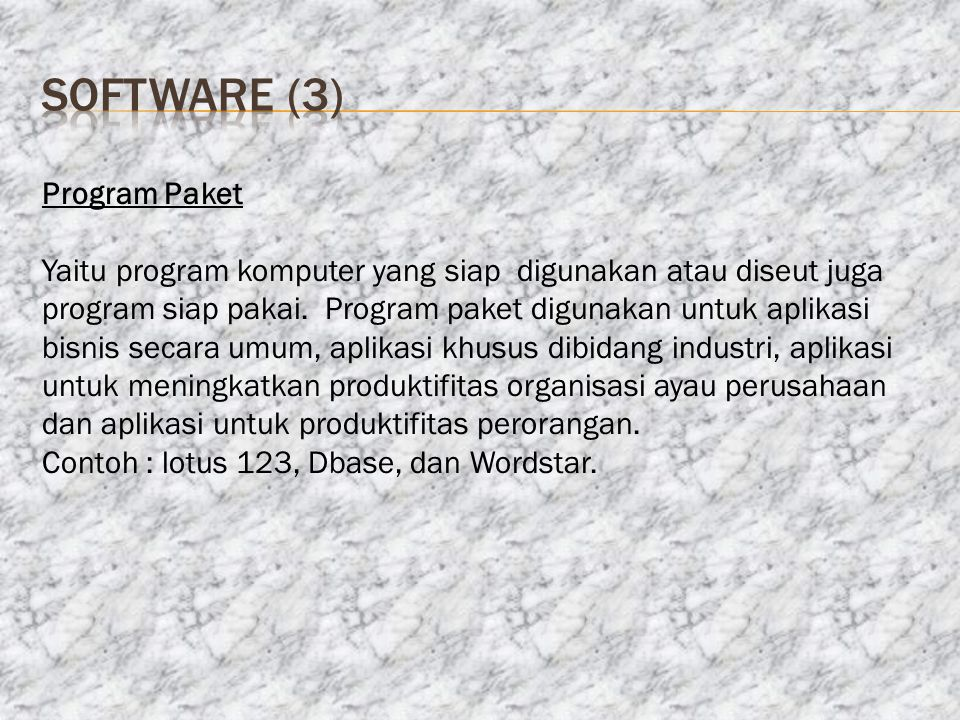 software (3) Program Paket