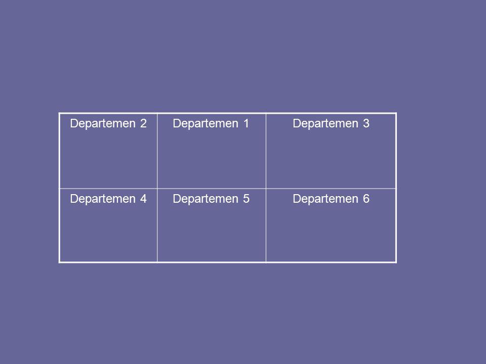 Departemen 2 Departemen 1 Departemen 3 Departemen 4 Departemen 5 Departemen 6