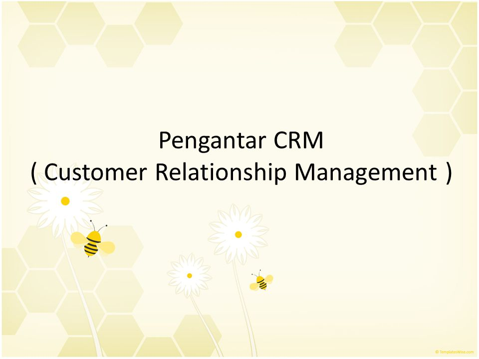 Pengantar CRM ( Customer Relationship Management )