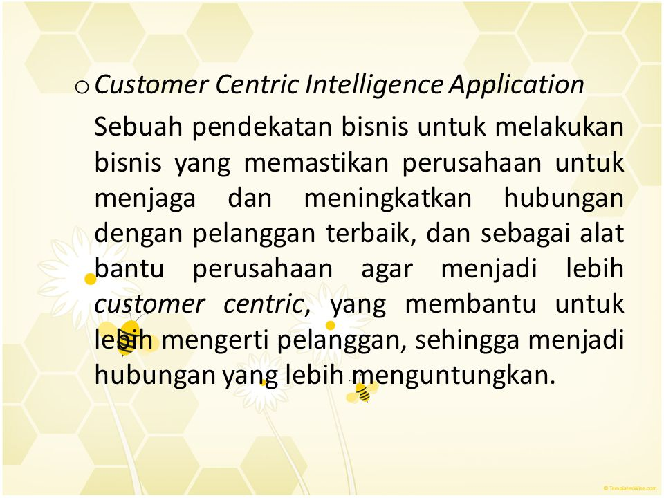 Customer Centric Intelligence Application